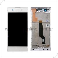 Γνήσια Οθόνη με Touch Screen & Μπροστινή Πρόσοψη Sony Xperia XA1/ XA1 (Dual SIM) Λευκό