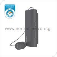 Ακουστικό Bluetooth iPro RH519 AutoAnswer Retractable με Δόνηση Γκρι