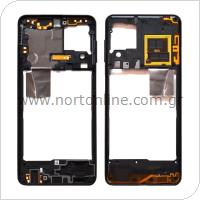 Μεσαίο Πλαίσιο Samsung A225F Galaxy A22 4G Μαύρο (Original)