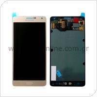 Γνήσια Οθόνη με Touch Screen Samsung A700 Galaxy A7 Χρυσό
