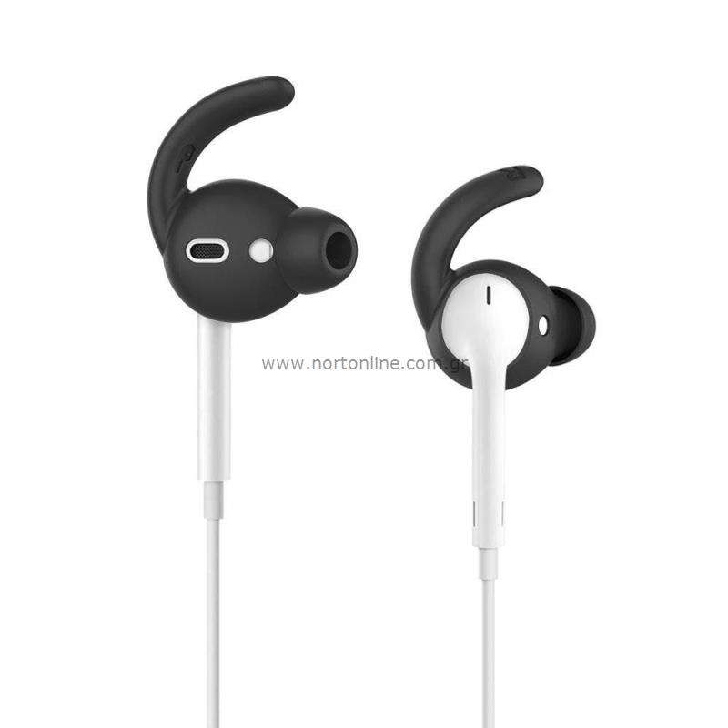 hot sale online 2f7c8 0a4f5 Silicone Cover AhaStyle EarHook PT40 & Pouch Apple EarPods Black ...