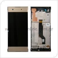 Γνήσια Οθόνη με Touch Screen & Μπροστινή Πρόσοψη Sony Xperia XA1/ XA1 (Dual SIM) Χρυσό