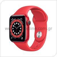 Apple Watch Series 6 GPS Aluminum 40mm Κόκκινο με Sport Band Κόκκινο