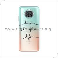 Θήκη TPU inos Xiaomi Mi 10T Lite 5G Art Theme Love-Laugh-Life
