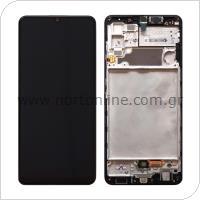 Οθόνη με Touch Screen & Μπροστινή Πρόσοψη Samsung A325F Galaxy A32 4G Μαύρο (Original)