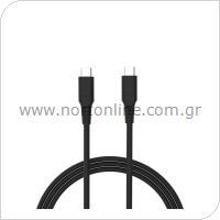 Καλώδιο Σύνδεσης USB 2.0 inos USB C σε USB C 1m Μαύρο