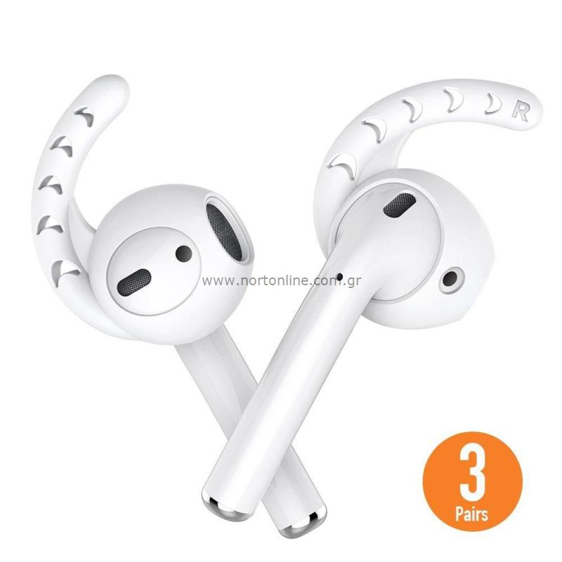 new product 4f86b 8b4d8 Silicone Cover AhaStyle EarHook PT14 Apple EarPods White (3 pairs ...