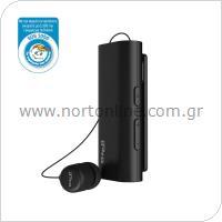 Ακουστικό Bluetooth iPro RH519 AutoAnswer Retractable με Δόνηση Μαύρο