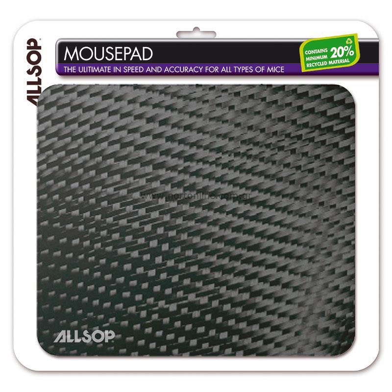 Allsop Mousepad Carbon Fibre 1 Pc Mousepads