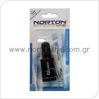 Σετ Φορτιστής Αυτοκινήτου Shiny με Διπλή Έξοδο USB 2.0A + Καλώδιο USB Apple iPhone 4/4S 30-pin