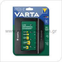 Φορτιστής Μπαταριών Varta Universal έως 5τεμ ΑΑ/ΑΑΑ/C/D/9V Μπαταρίες με Οθόνη LCD & Έξοδο USB