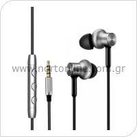 Hands Free Stereo Xiaomi Mi In-Ear Headphones Pro HD 3.5mm QTEJ02JY Ασημί