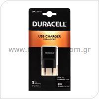 Φορτιστής Ταξιδίου Duracell με 'Εξοδο USB 1.0A Μαύρο