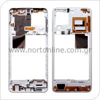 Μεσαίο Πλαίσιο Samsung A225F Galaxy A22 4G Λευκό (Original)
