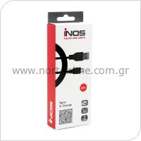Καλώδιο Σύνδεσης USB 2.0 inos USB A σε Micro USB 2m Μαύρο