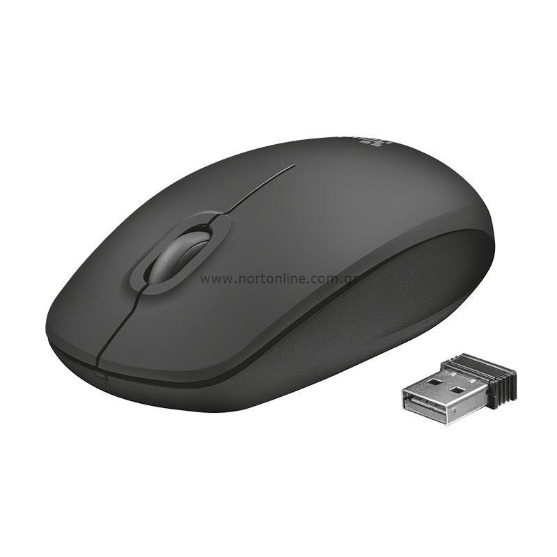 Trust Ziva Wireless Optical Mouse Black Mouse